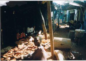 Afrakan wood carving village