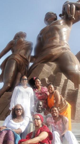 African Renaissance in Dakar, Senegal, Top, Nefer-Ra, Sekhemeti El-Bey, Anadi, Bottom, Mayasa Telfair, Sharon Greene, Sharlonda Harvey, Middle, Mounirou Samb