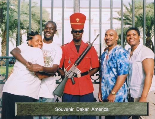 Anadi, Mounirou, mTep, and Sharlonda Harvey at the Presidential Palace (Dakar, Senegal)
