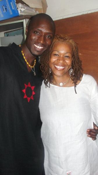 Mayasa Telfair with Momar Talla (Dakar Senegal)