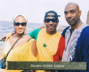 Musician Nefer-Ra, Recording Artist and Actor Ja Rule, and Author Lecturer MaaXeru Tep at Goree Island (Senegal)
