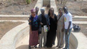 Sharon Greene, mTep, Ayi Kwei Armah, Mayasa Telfair, Sharlonda Harvey, and Mounirou Samb at the Per Ankh publishing cooperative in Popenquine Senegal