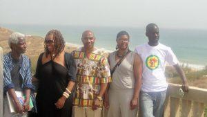 Two Thousand Seasons Author Ayi Kwei Armah, Mayasa Telfair, mTep, Sharlonda Harvey and Mounirou Samb in Popenguine , Senegal